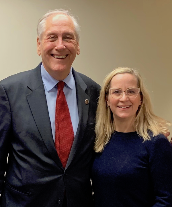 Virginia Senator Dave Marsden and Virginia NORML Board Member Tamara Netzel