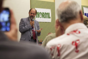 Dan Viets speaking at a NORML conference