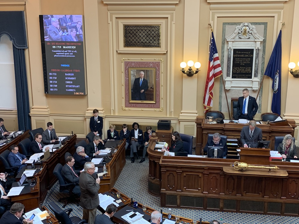 Virginia SB1719 passes the House of Delegates